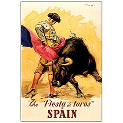 'The Fiesta de Toros Spain' Canvas Art