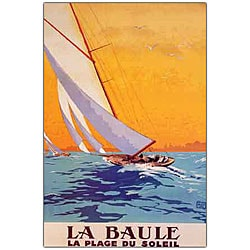 Charles Allo 'La Baule' Framed Canvas Art