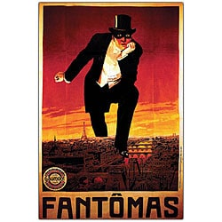 'Fantomas' Framed Canvas Art