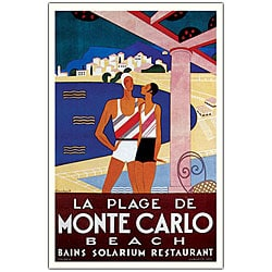 Phillipe Bouchard 'Plage de Monte Carlo' Art