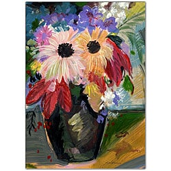 Sheila Golden 'Harvest Bouquet ' Framed Canvas Art