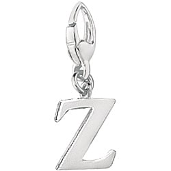 Sterling Silver Letter 'Z' Charm