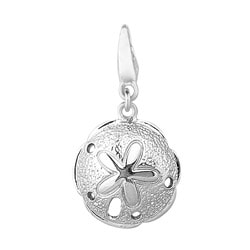 Sterling Silver Large Sand Dollar Charm