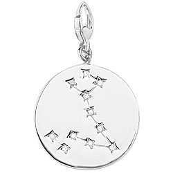 Sterling Silver Pisces Charm
