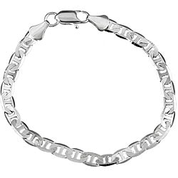 Simon Frank 14k White Gold Overlay 8-inch Gucci-style Chain Bracelet