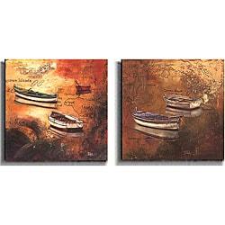 Caribbean Island 2-piece Canvas Art Set