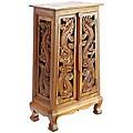 Hand-carved Thai Dragon 40-inch Storage Cabinet