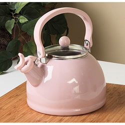 Calypso Basics Pink Whistling Tea Kettle