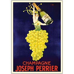 'Champagne Joseph Perrier' Canvas Art