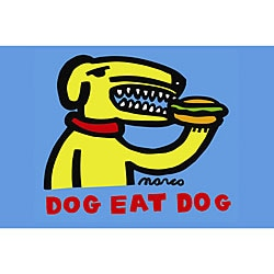 Marco 'Dog Eat Dog' Canvas Art