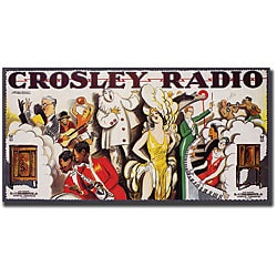 'Crosley Radio' Canvas Art