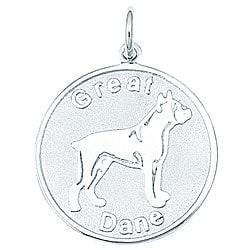 Sterling Silver Great Dane Charm