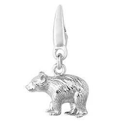 Sterling Silver Black Bear Charm