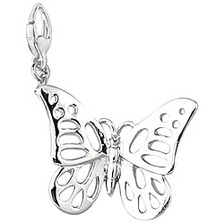 Sterling Silver Open Butterfly Charm