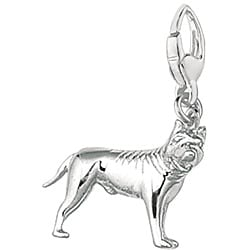 Sterling Silver American Pit Bull Terrier Dog Charm