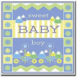 Grace Riley 'Sweet Baby Boy' Framed Canvas Art