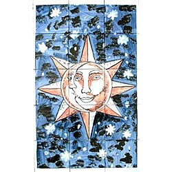 Sun/moon Fusion 15-tile Ceramic Mosaic Mural