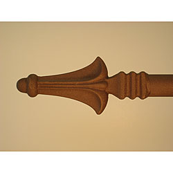 Alpine 45 to 82-inch Mocha Brown Adjustable Curtain Rod