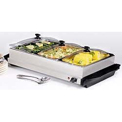 Stainless Steel 3-section Buffet Server/ Warmer