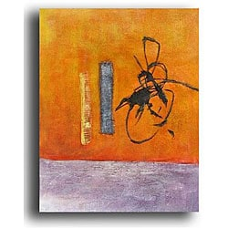 Writing On The Wall Contemporary Canvas Art