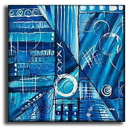 'Blue Blunder' Contemporary Canvas Art