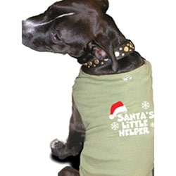 'Santa's Little Helper' Cotton Dog Tank Top