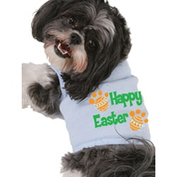 'Happy Easter' Dog's Cotton Tank Top