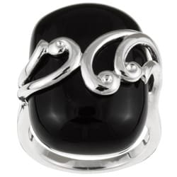 Meredith Leigh Sterling-Silver Black Onyx Ring