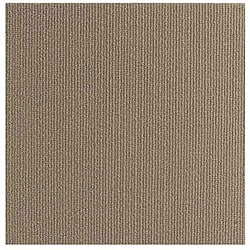 Do It Yourself Beige Self Stick Carpet Tiles (144 Square Feet)