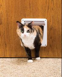 Essential Pet White Four-way Cat Flap