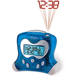 Hip & Cool Blue Projection Clock with Temperature