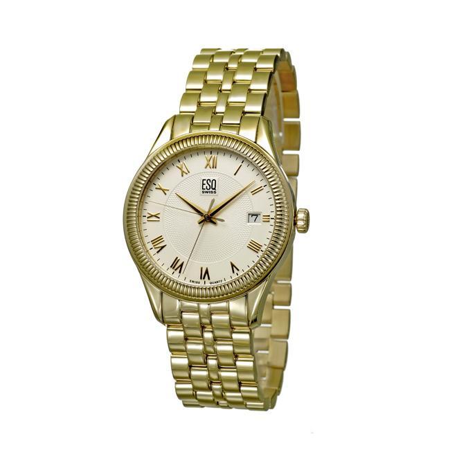 ESQ By Movado Men's 'Harrison' Goldtoned Stainless Steel Quartz Watch