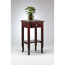 Office Star Merlot Telephone Table with Drawer