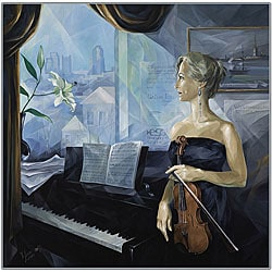 Yelena Lamm 'Before the Concert' Canvas Art