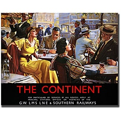 W. Broadhead 'The Continent' Gallery-wrapped Art