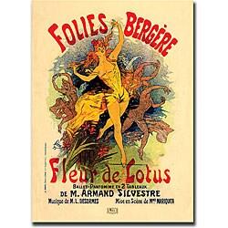 Jules Cheret 'Folies Bergere Fleur de Lotus' Art