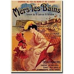 Rene Pian 'Mers-Les-Bains' Canvas Art