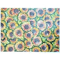 Sunflower Seeds Design 12-tile Ceramic Wall Mural