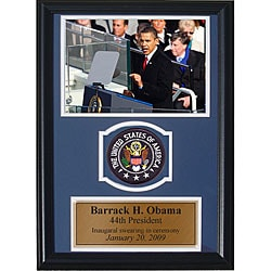 Barrack Obama 12x18 Custom Framed Print with Patch 5111069