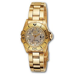 Invicta Women's 2963 Pro Diver 18k Goldplated Watch 5113692