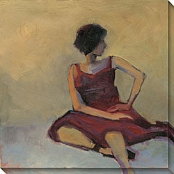 Kim Coulter 'Girl In Red Dress' Canvas Art