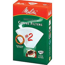 Melitta 622712 #2 Paper White Cone Coffee Filters- 400 Count