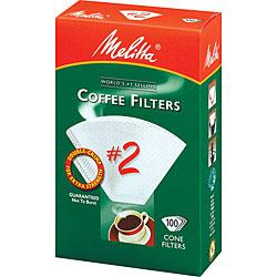Melitta 622712 #2 Paper White Cone Coffee Filters- 100 Count 5195465