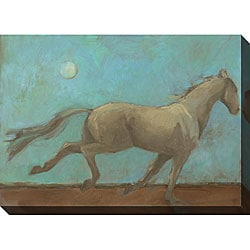 Kim Coulter 'Midnight Run I' Oversized Canvas Art