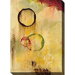 Leslie Saris 'Real Meaning I' Giclee Canvas Art