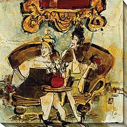 Olivia Maxweller 'Ladies of Leisure II' Oversized Canvas Art