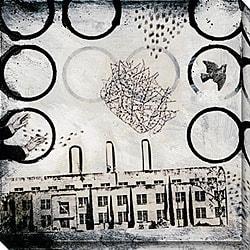 Judy Paul 'Ghost City I' Oversized Canvas Art
