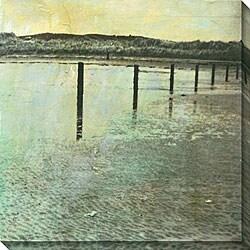 Sara Abbott 'Beach Series IV' Oversized Canvas Art