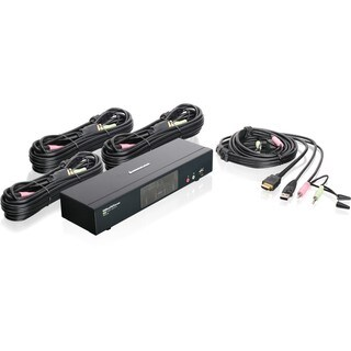 IOGEAR MiniView 4-Port HDMI Multimedia KVM Switch with Audio