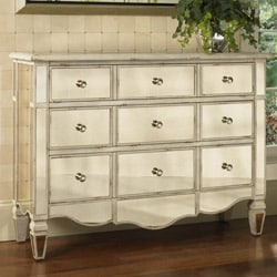 Hand-painted Mirrored Drawer Accent Chest